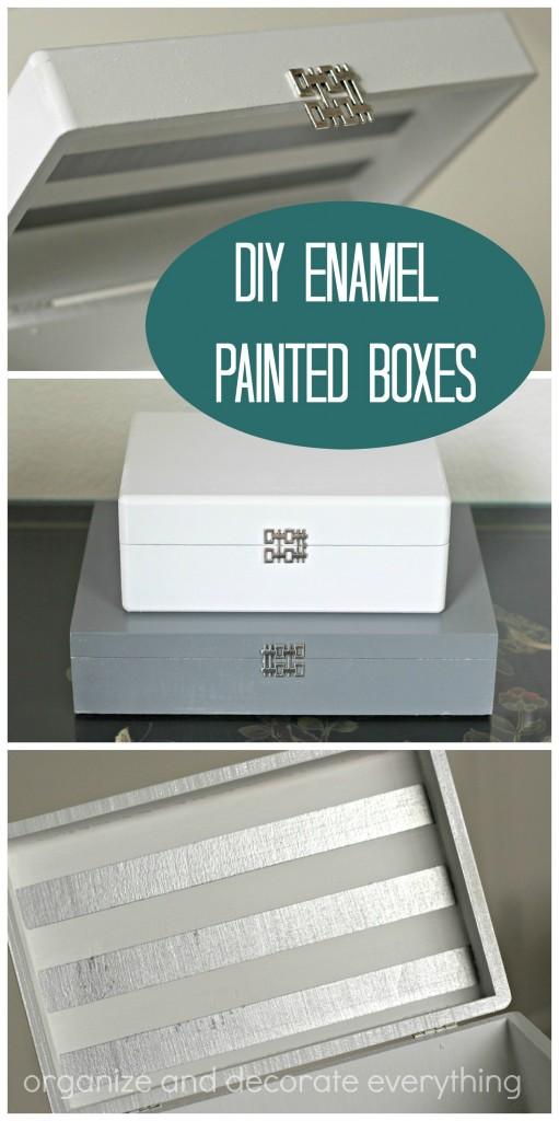 DIY Enamel Painted Boxes