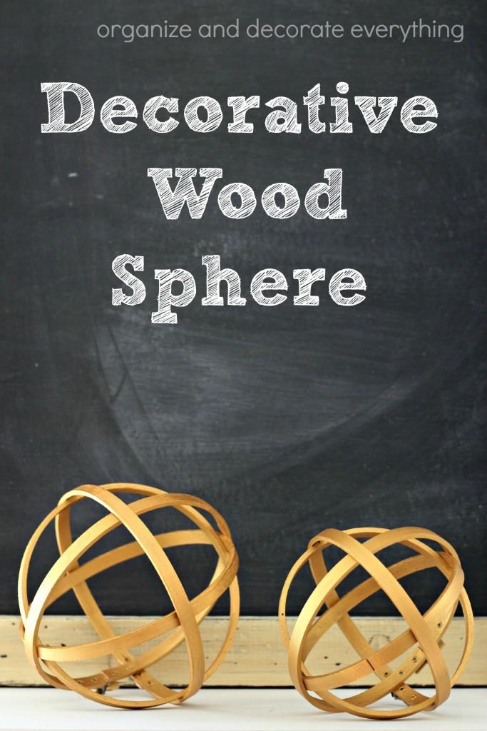 Decorative Wood Sphere