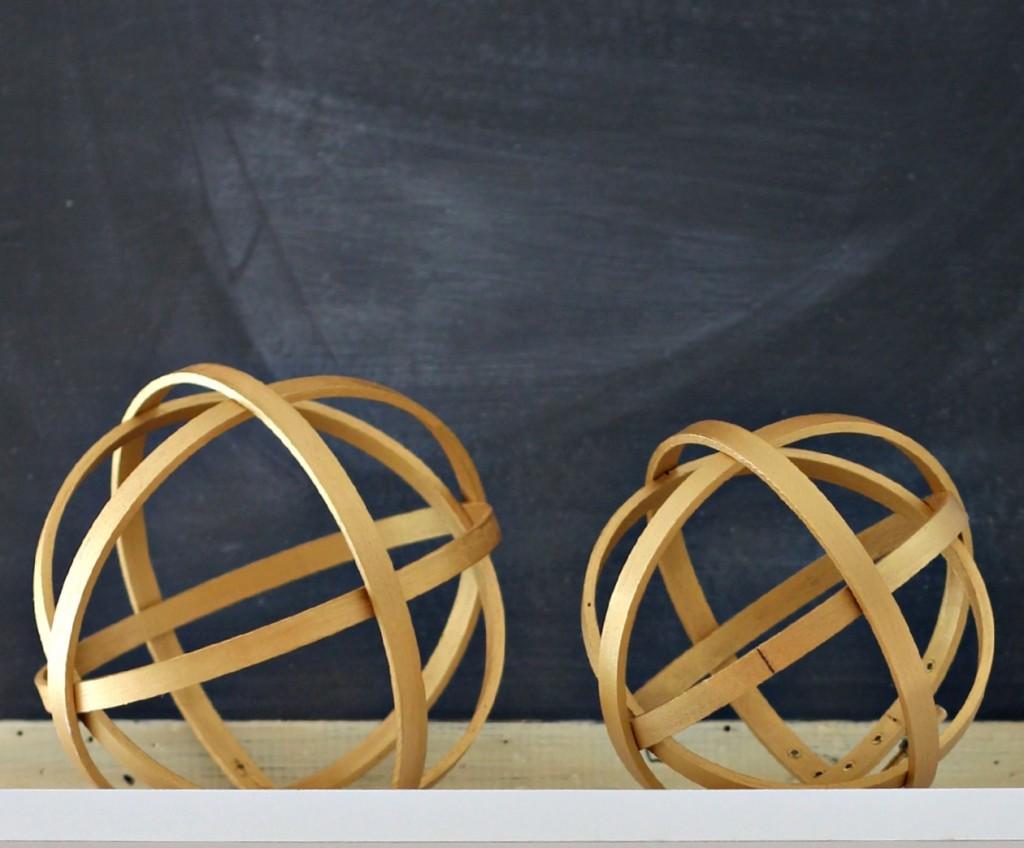 Decorative Wood Sphere 2 sizes