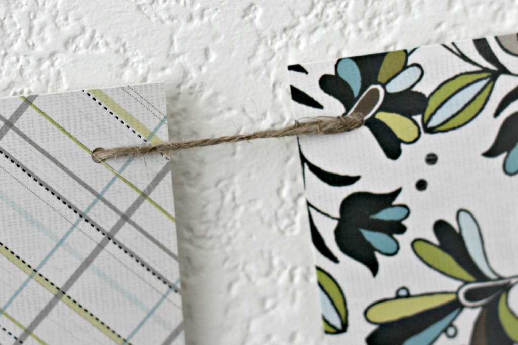 Green and White Easter Mantel banner closeup .1