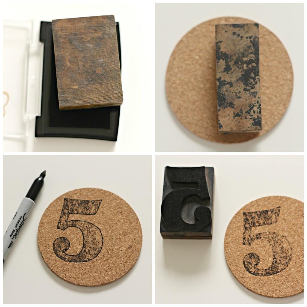 Number Stamped Coasters 1