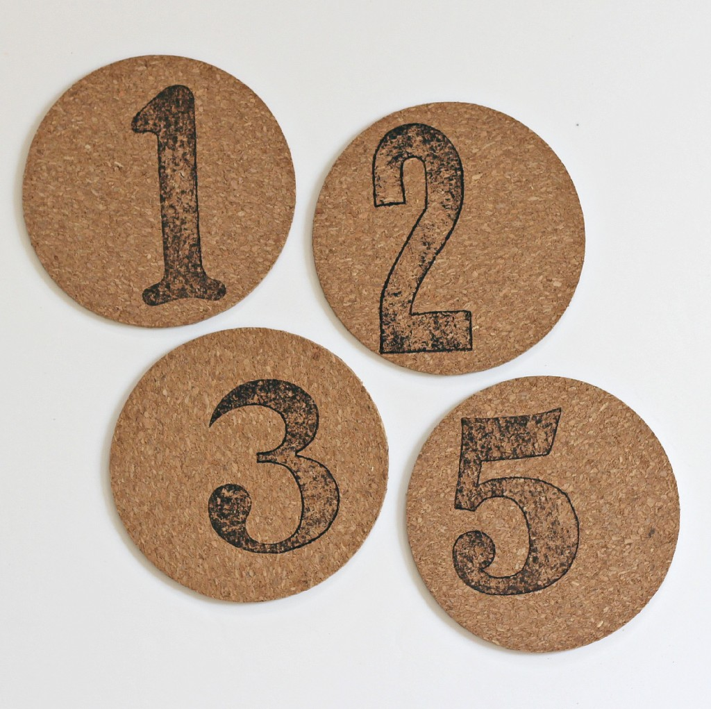 Number Stamped Coasters 5