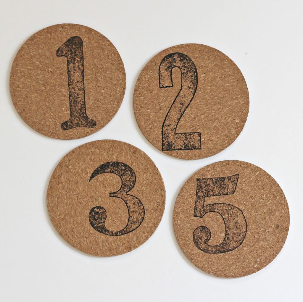 Number Stamped Coasters 5