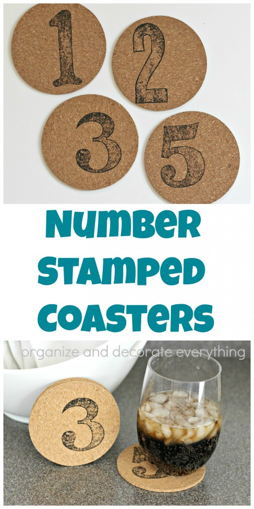 Number Stamped Coasters