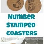 Number Stamped Coasters