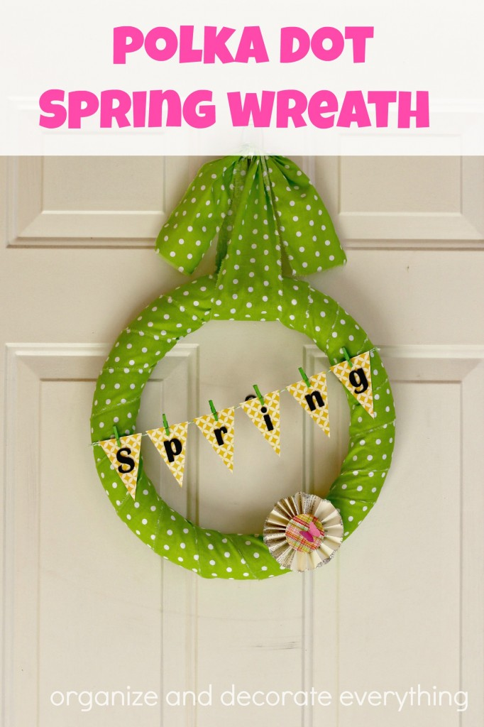 Polka Dot Spring Wreath