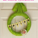 Polka Dot Spring Wreath