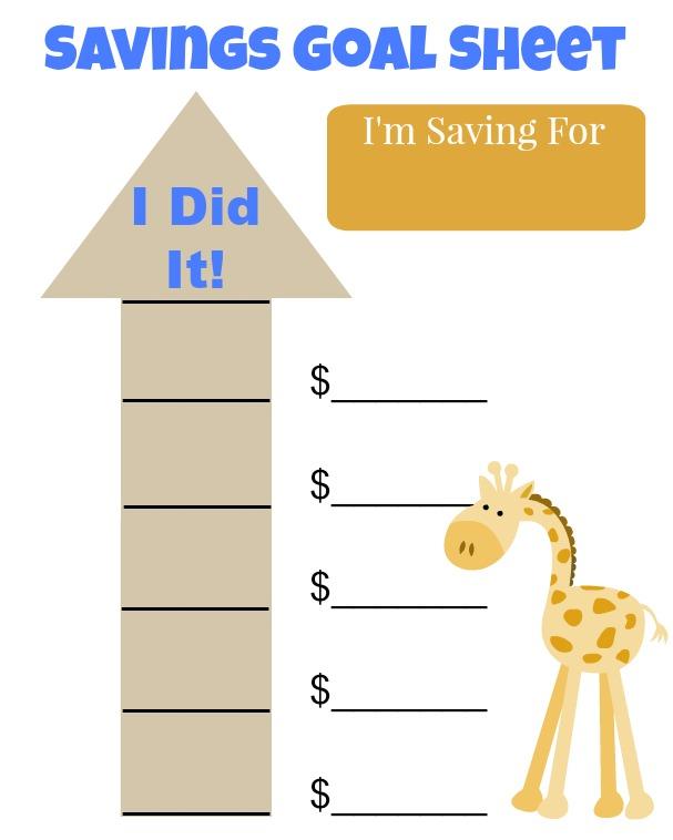 Savings Goal Sheet