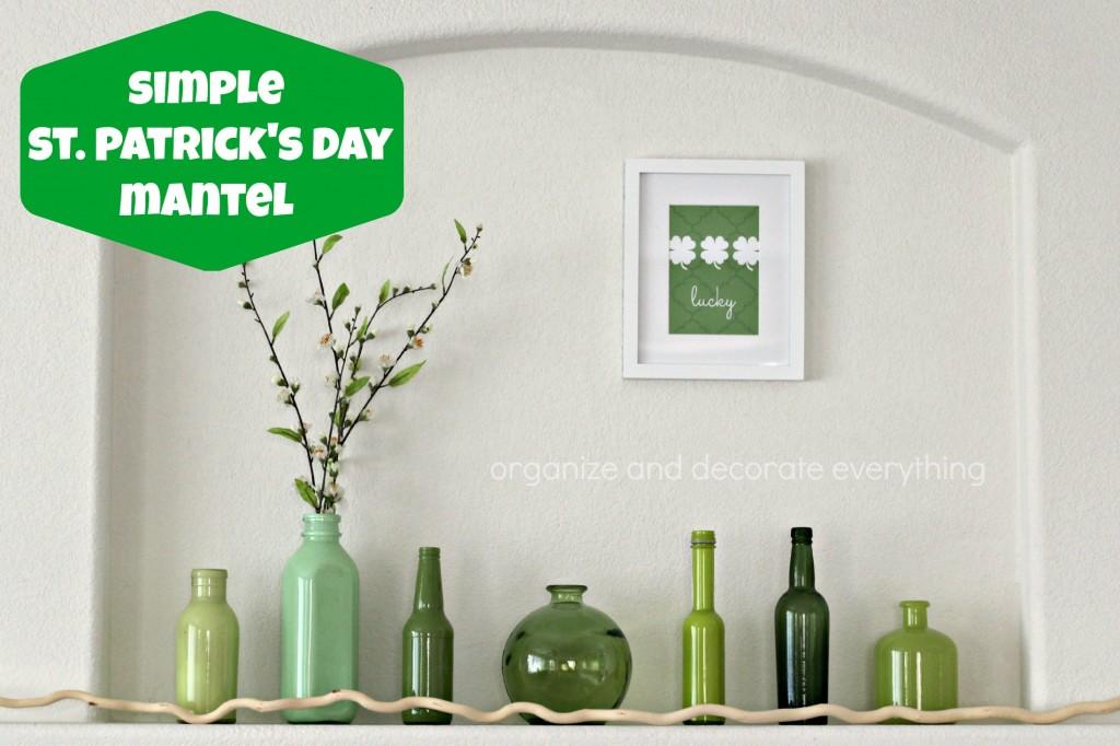 Simple St. Patrick's Day Mantel