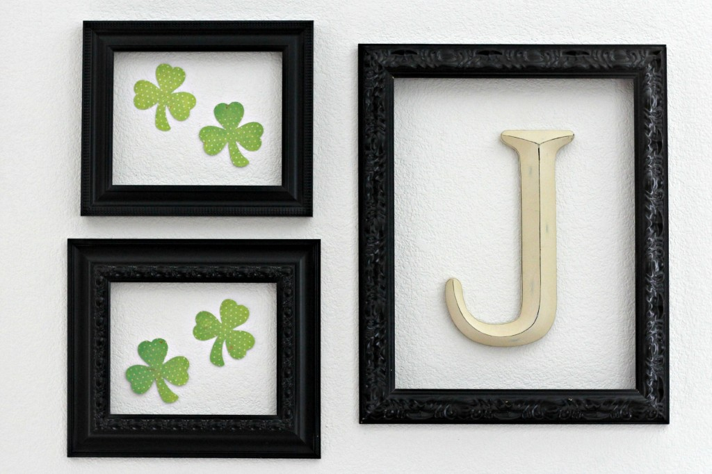 Simple St. Patrick's Day Mantel 6