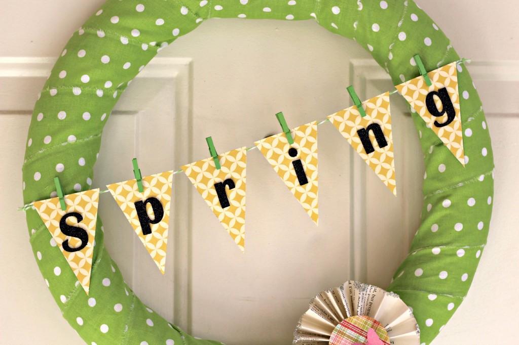 polka dot Spring wreath 5