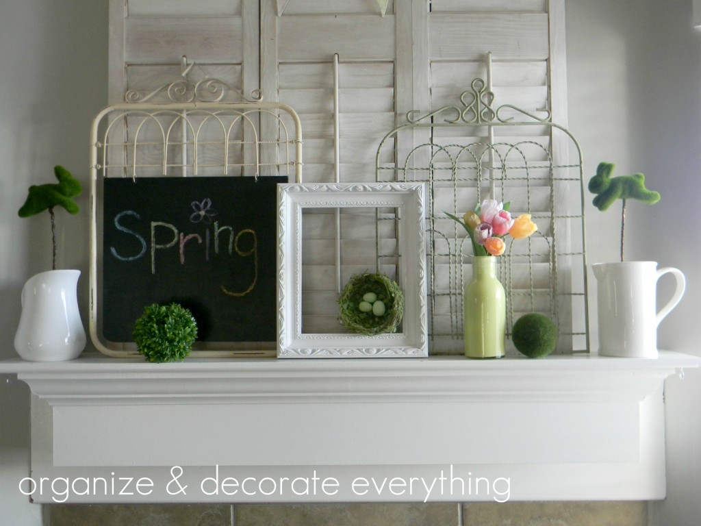 Spring Mantel Decorating Ideas Organize And Decorate