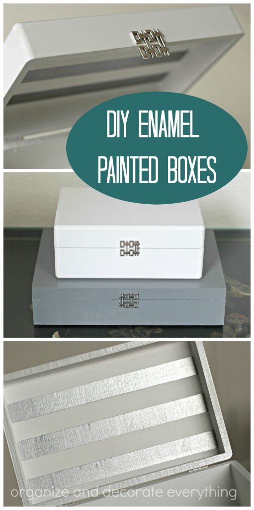 Enamel Painted Boxes for storage and home decor