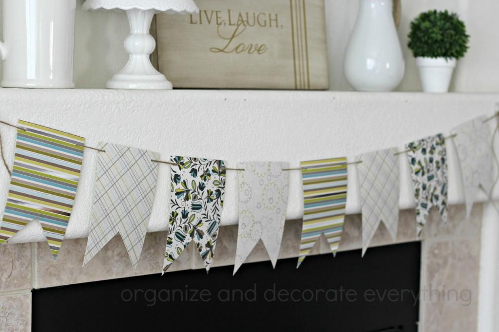 Floral Spring Mantel Banner