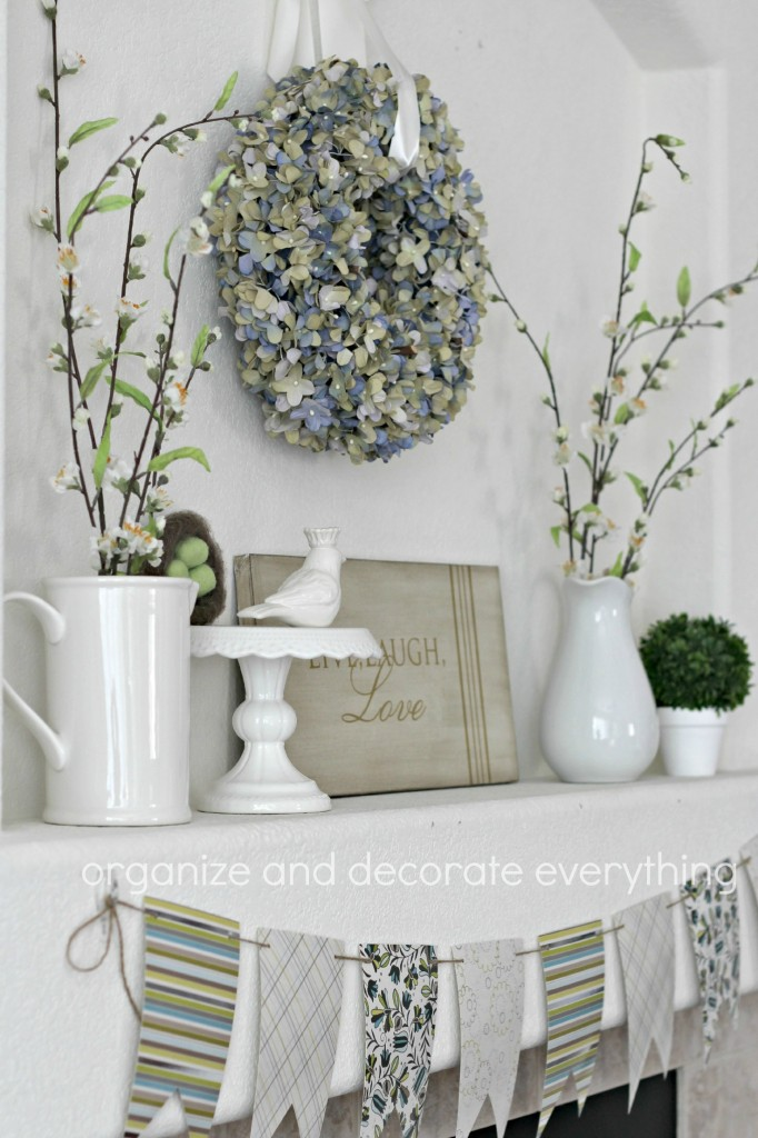 Floral Spring Mantel and Banner