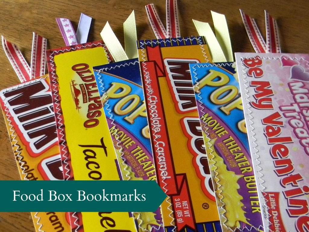 Food Box Bookmarks