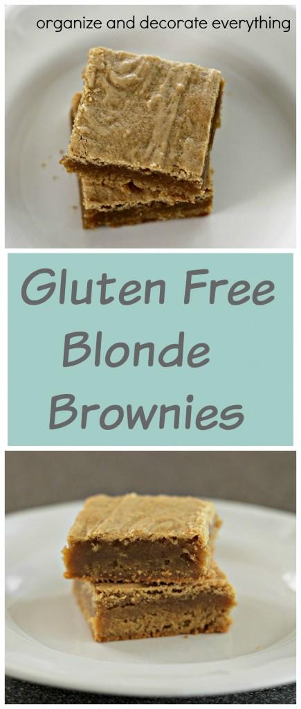 Gluten Free Blonde Brownies