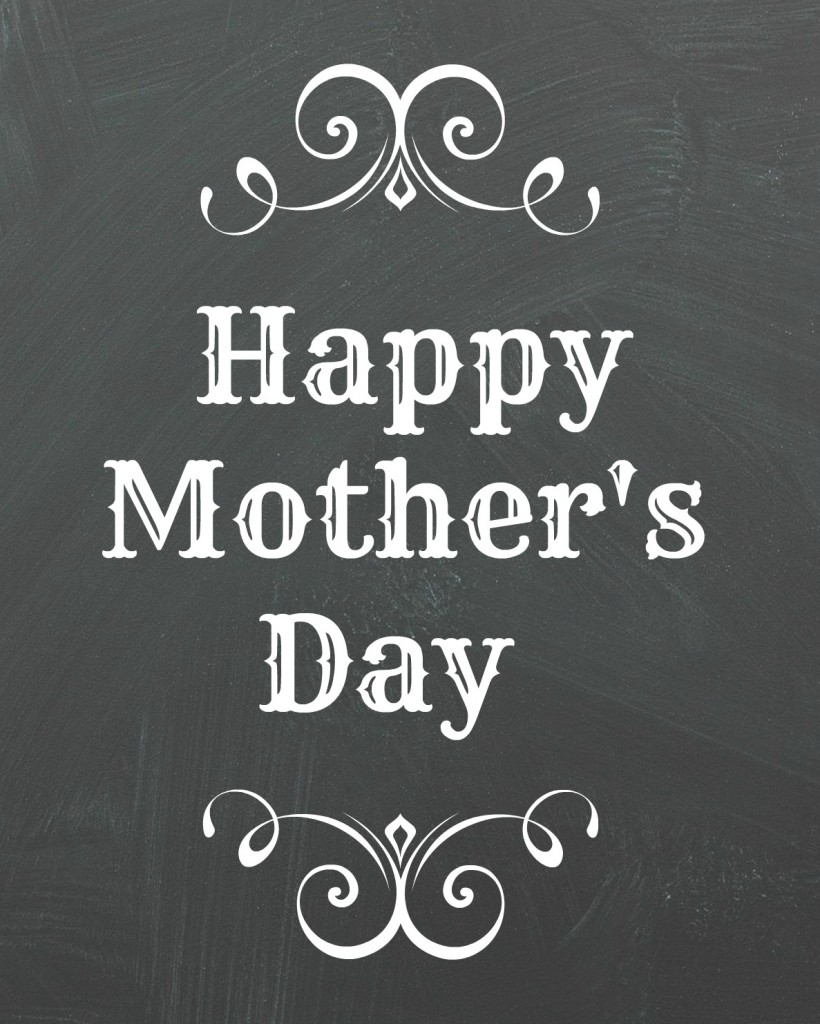 Happy Mother's Day chalkboard printable