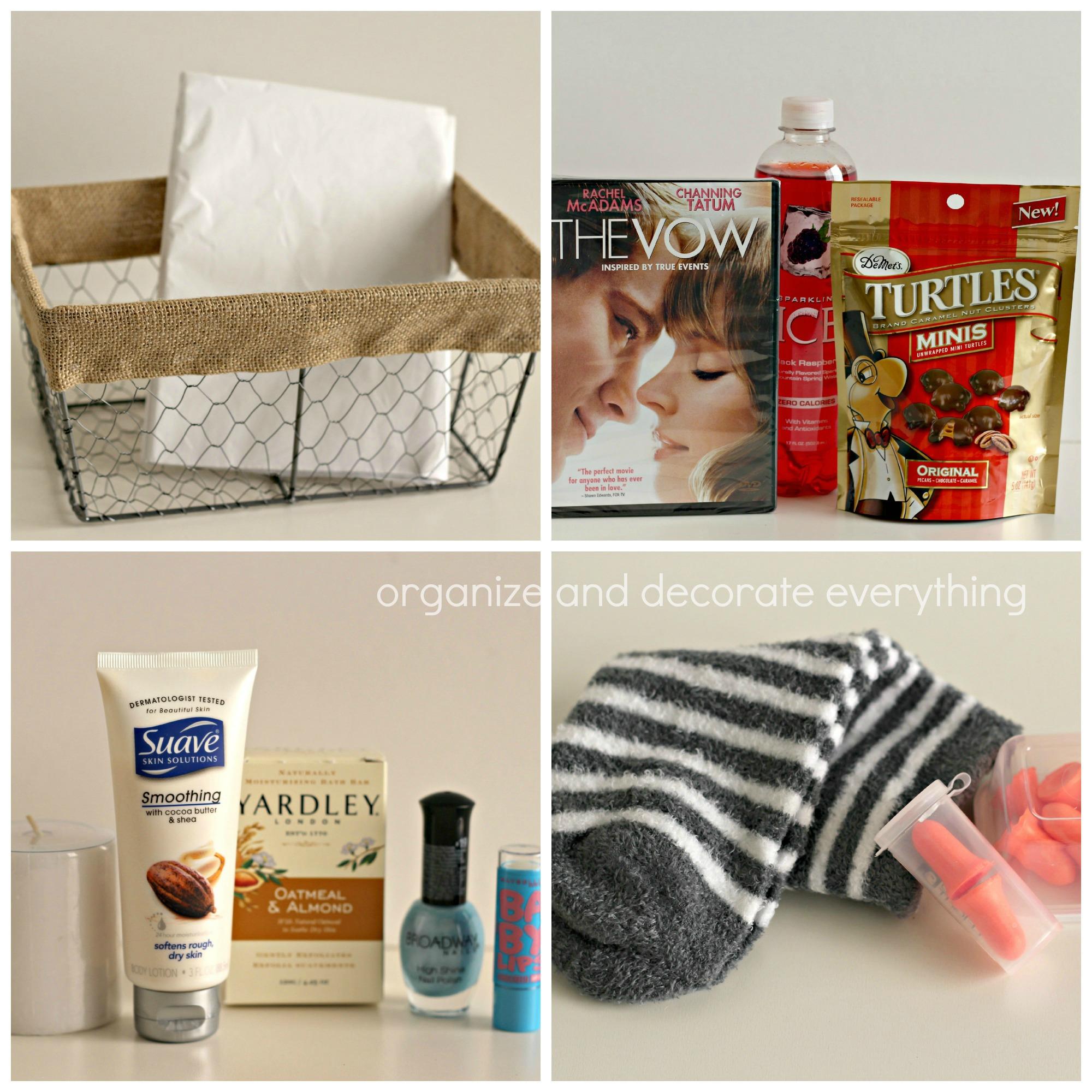 Mom Survival basket supplies