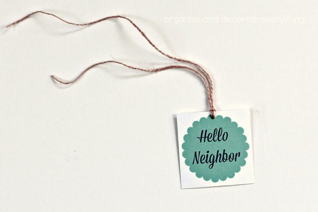 Neighbor Gift Ideas tag