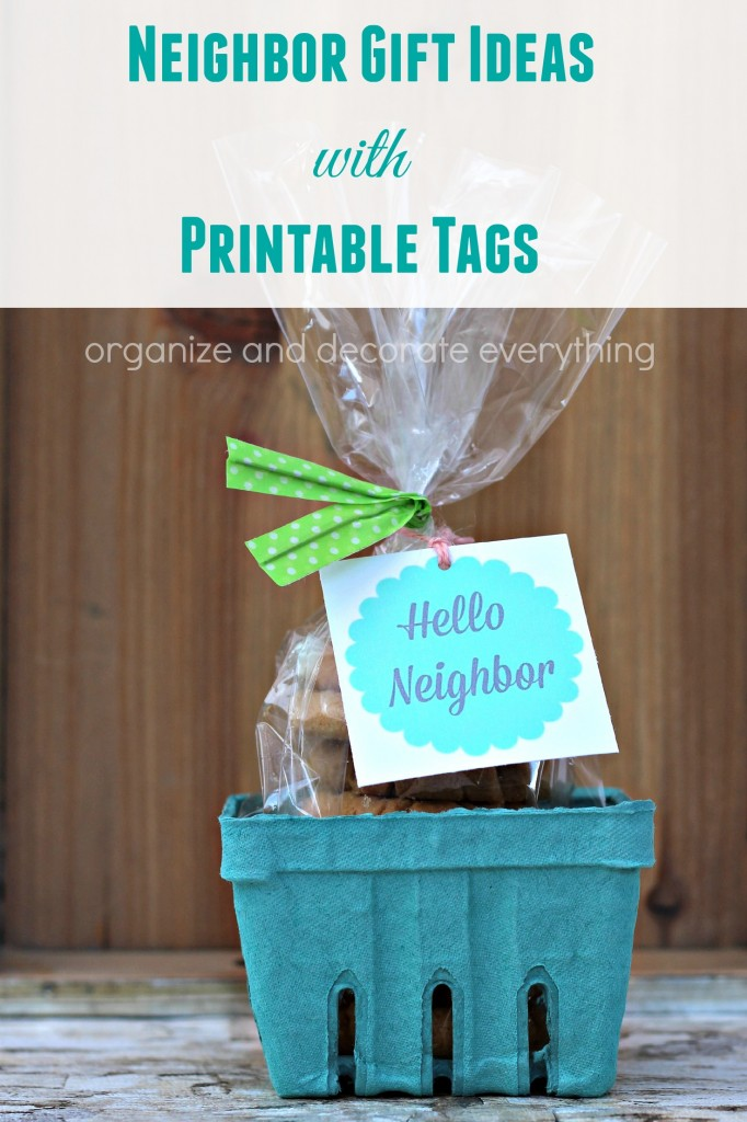 Neighbor Gift Ideas with Printable Tags