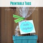 Neighbor Gift Ideas with Printable Tags