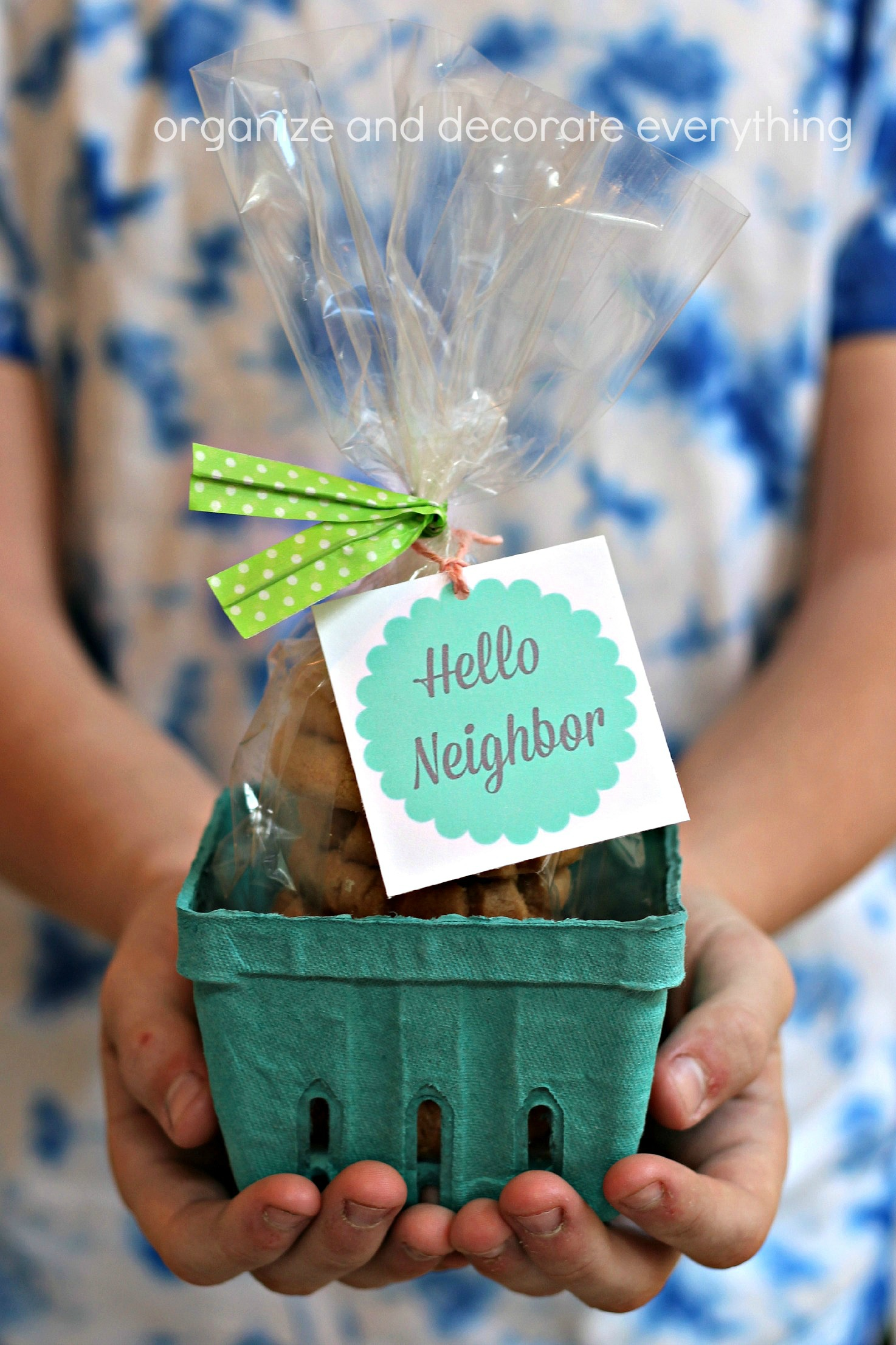 Neighbor Gift Ideas With Printable Tags Organize And
