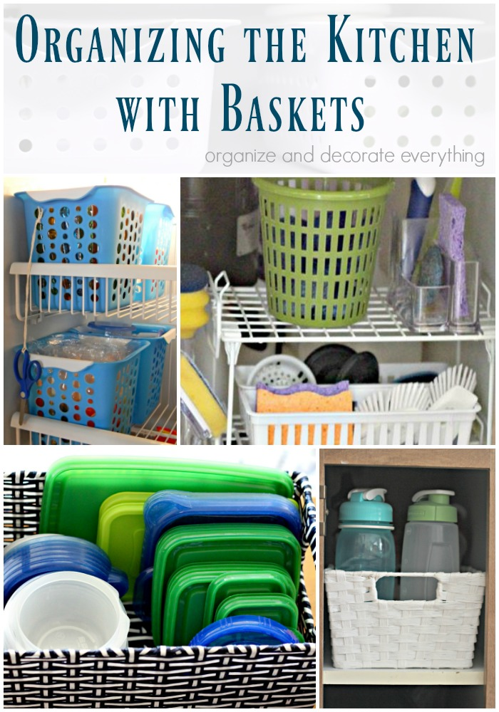 Organizing the Kitchen with Baskets