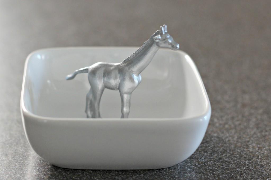 Ring Dish silver giraffe 1
