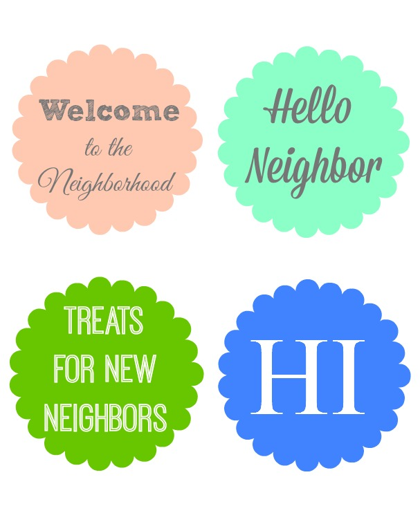 photo regarding Welcome to the Neighborhood Printable titled Neighbor Reward Options with Printable Tags - Arrange and