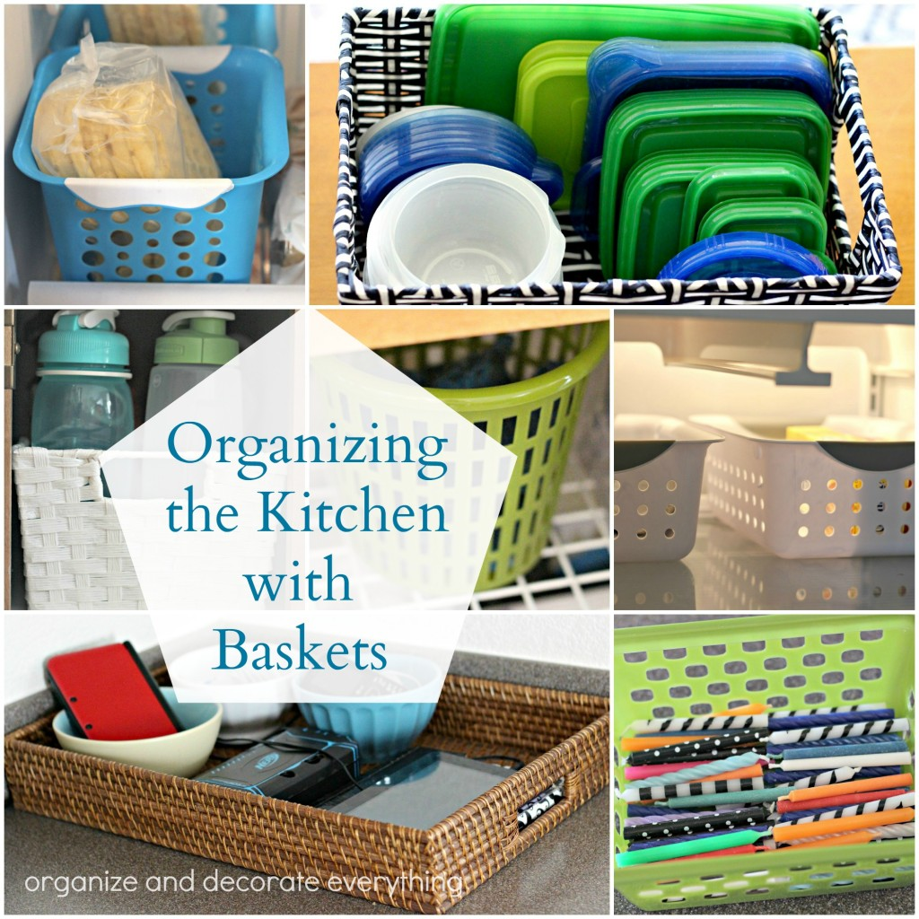 Dollar Store Kitchen Organization: Organizing The Kitchen With Baskets