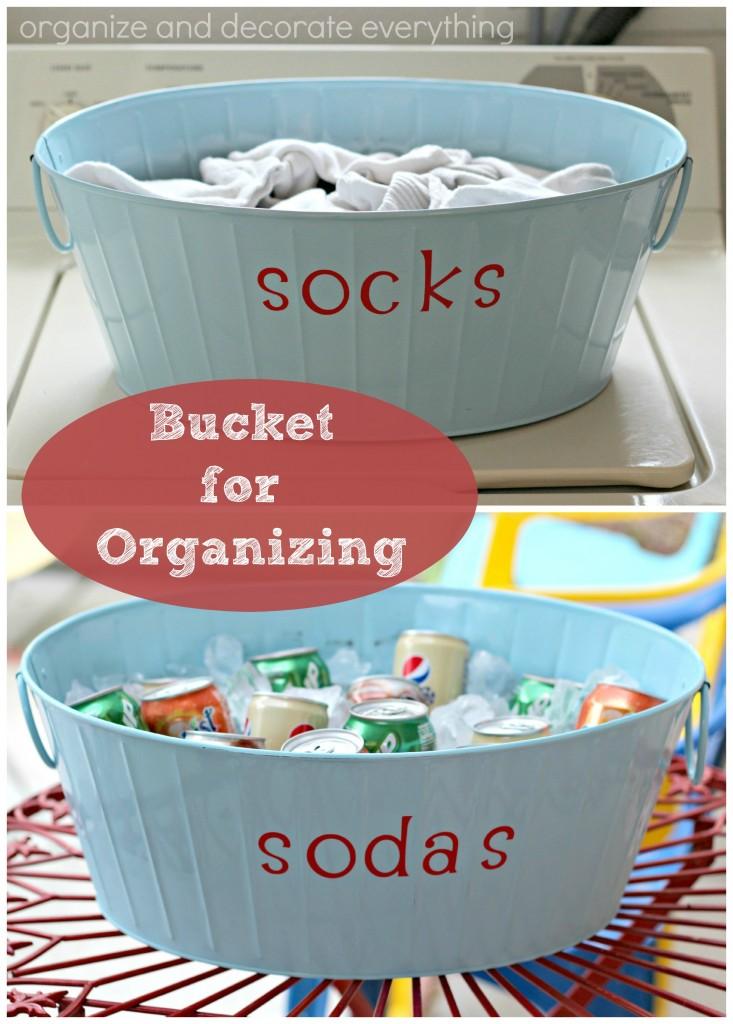 Bucket for Organizing