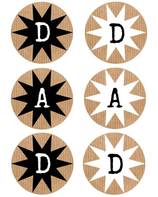 Dad printable banner and tags