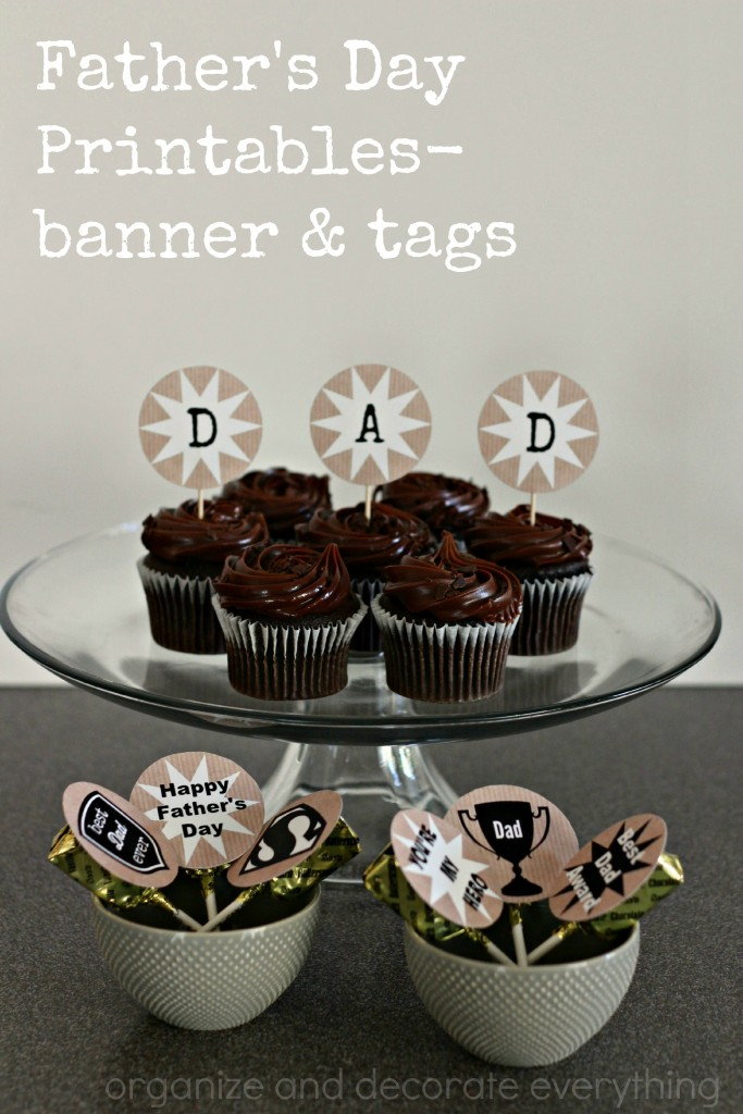 Father's Day Printables - you can make bannesr and tags and so much more