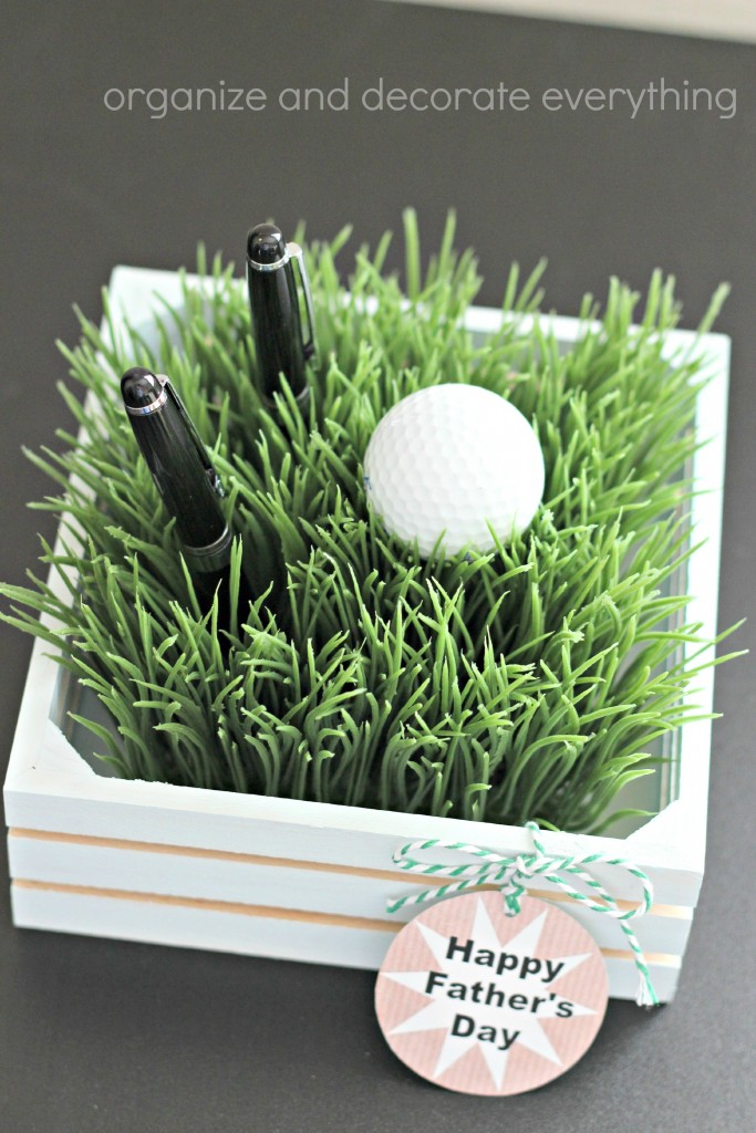 Faux Grass Pen Holder father's day gift