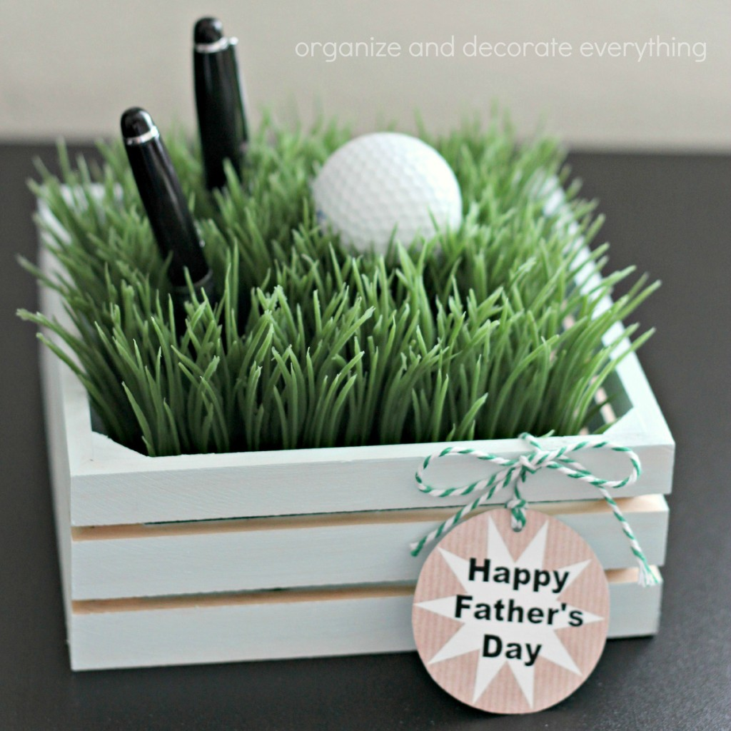 Faux Grass Pen Holder square