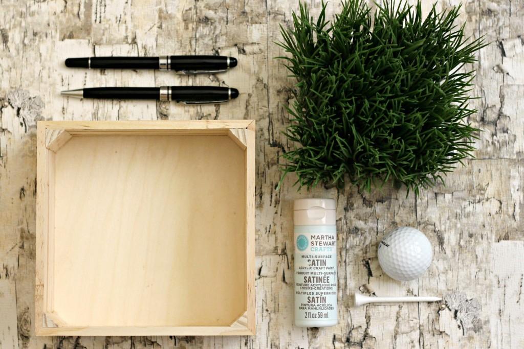 Faux Grass Pen Holder supplies.1