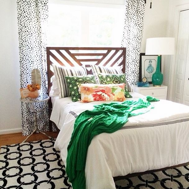 How to Decorate with Florals - bedroom