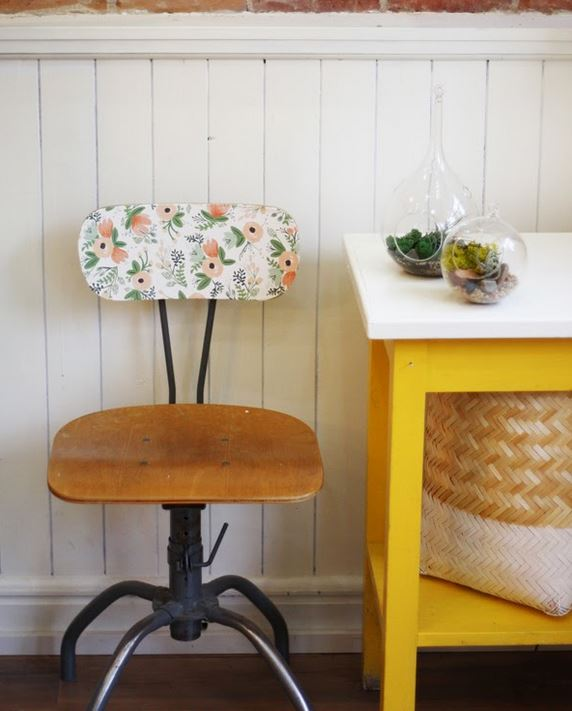 How to Decorate with Florals - chair
