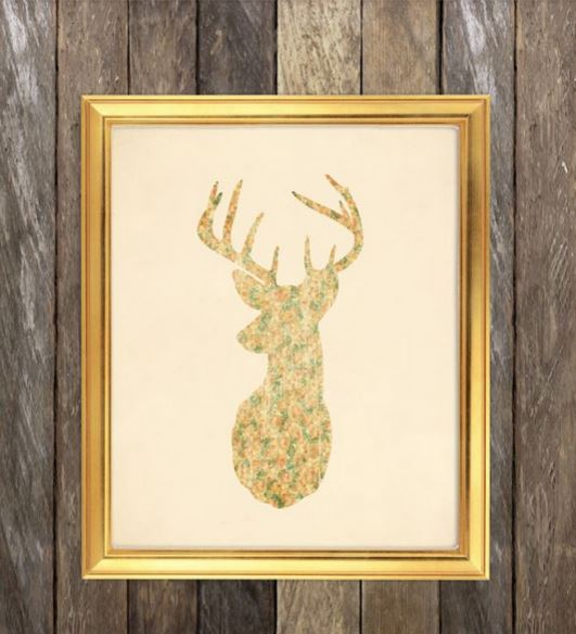 How to Decorate with Florals - deer print