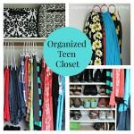 Organized Teen Closet
