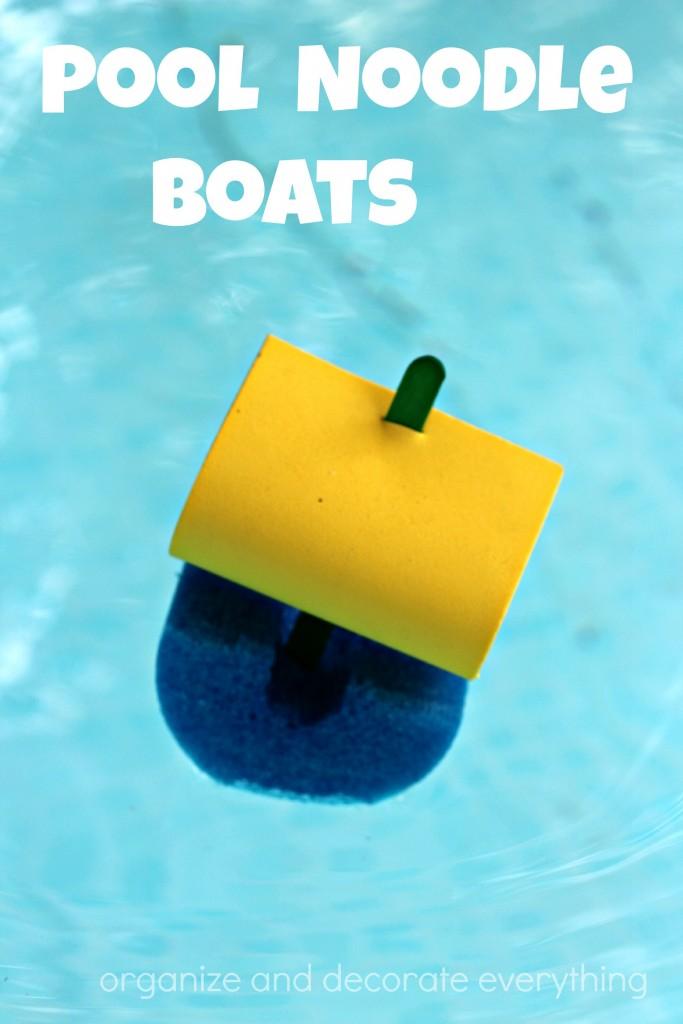 Pool Noodle Boats