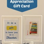Teacher Appreciation Printable and Gift Card Idea