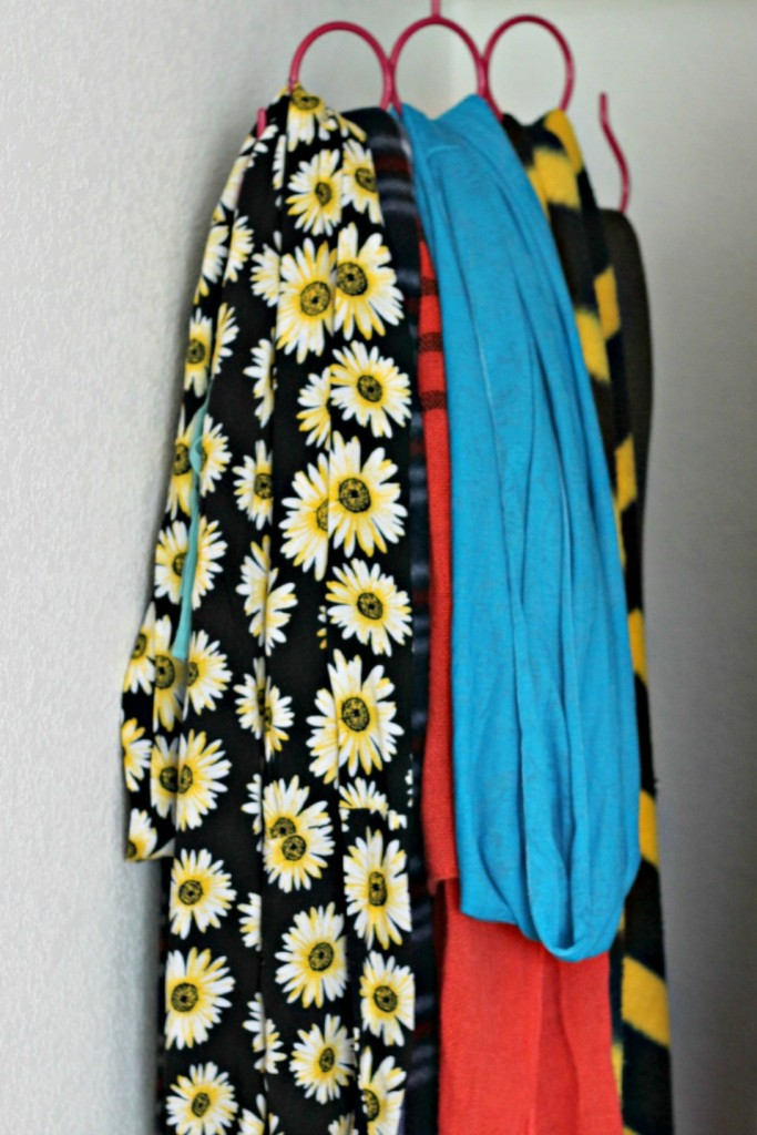 Teen Organized Closet- scarves