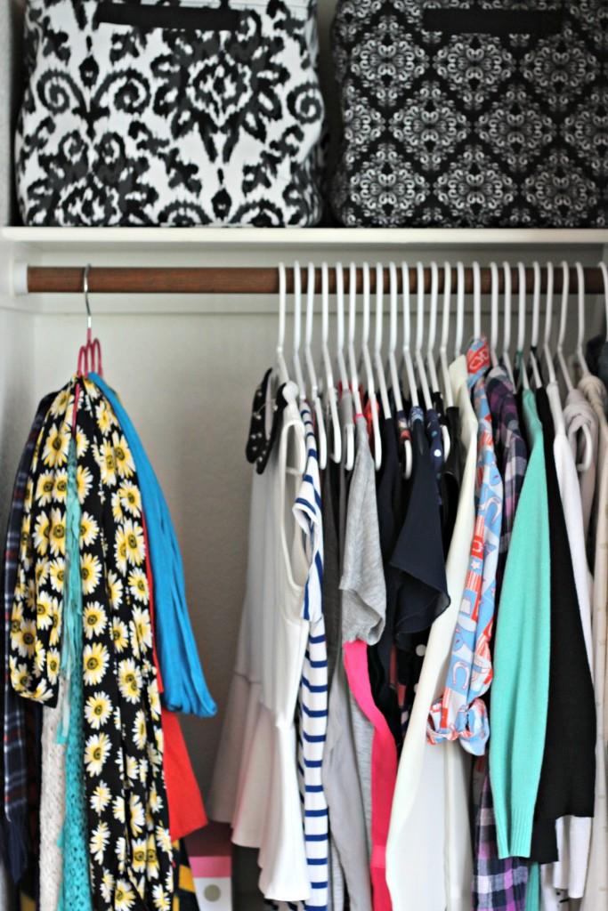 Teen Organized Closet- shirts