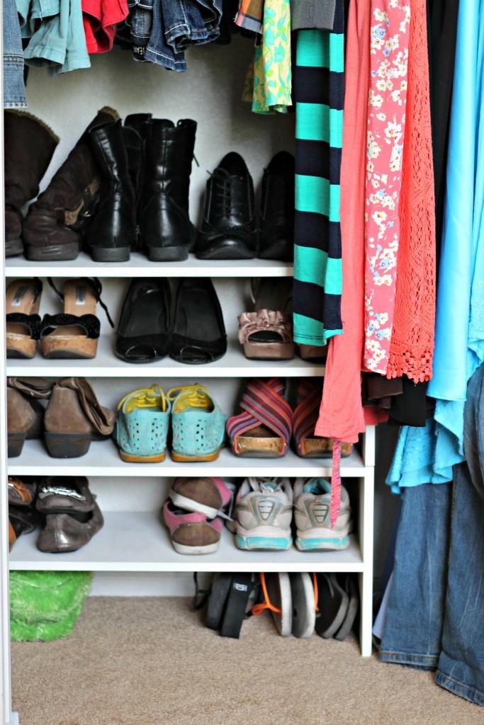 Teen Organized Closet- shoes