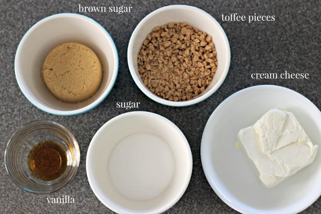 Toffee Apple Dip ingredients