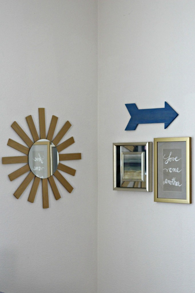 Wood Shim Sunburst Mirror Wall