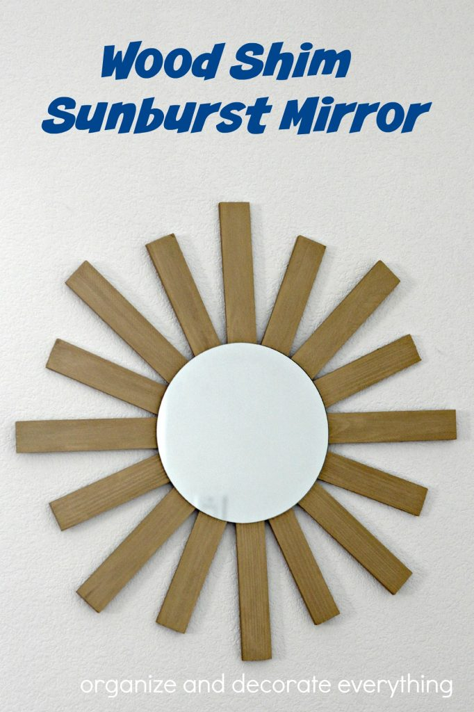 Wood Shim Sunburst Mirror pinterest