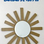 Wood Shim Sunburst Mirror